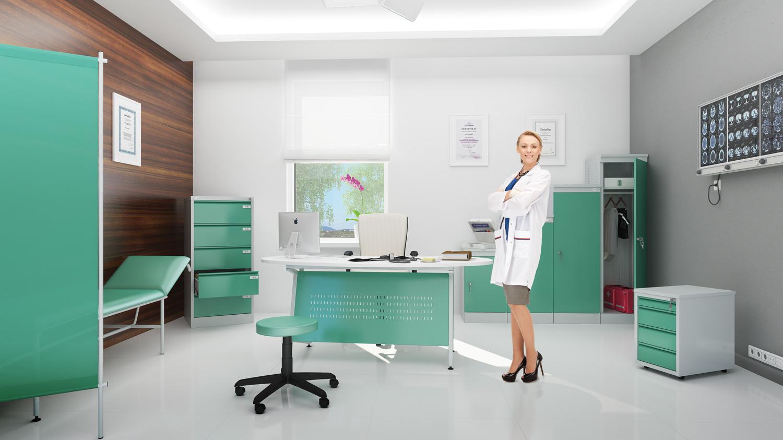 jak funkcjonalnie i elegancko urz�dzi� gabinet lekarski