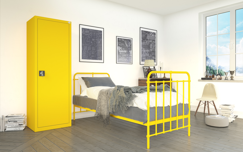 Metal waranżacji wnętrz sypialnia