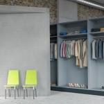 Garderoba w mieszkaniu industrialnym