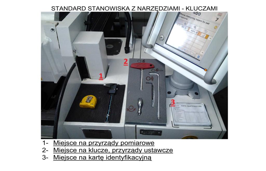 Standard stanowiska znarzędziami-kluczami