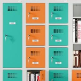 Szafy MSus z półką na książki i szafki 6-skrytkowe