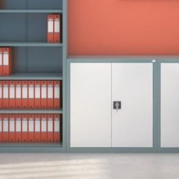 Szafy biurowe SbmM – system poziomowania