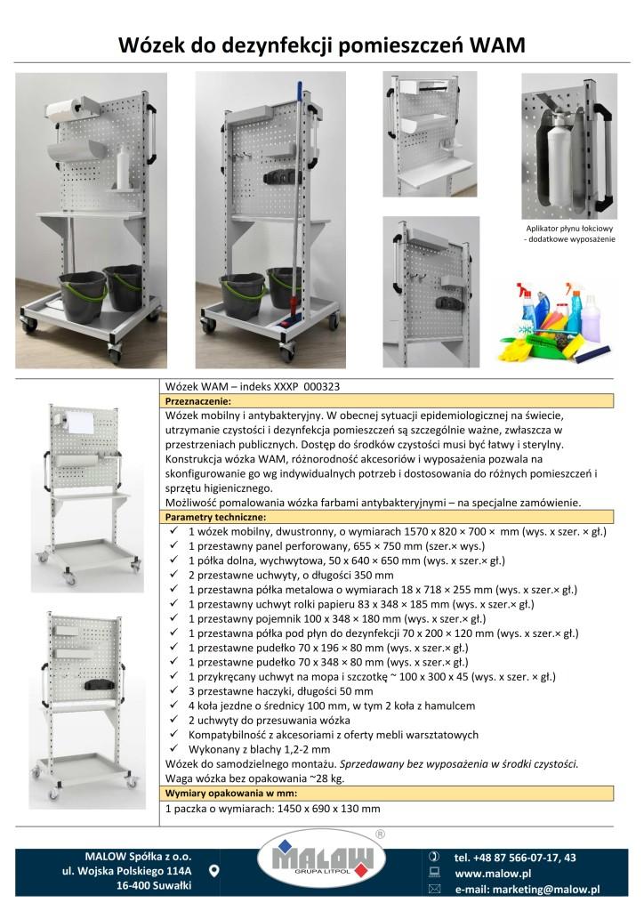 Wózek do dezynfekcji pomieszczeń WAM